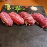 91286849 - サーロインの肉寿司