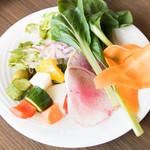 那須の恵みMekke - 生でポリポリ食べてしまったしゃぶしゃぶ用野菜w