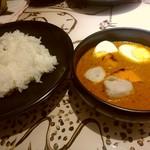ハレギンザ - スペシャルカレー(770円)に本日の野菜トッピング(人参、里芋 130円)