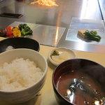 ステーキアオヤマ - ランチのセット