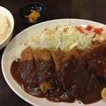 とんかつひろ喜 - 牛かつ定食(¥1200)