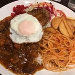 喫茶屋 かしさ - ハンバーグディッシュカレー(ご飯少なめ)
