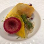 Judomarushe - ランチ4,309円-前菜-北海つぶ貝のサラダ仕立て