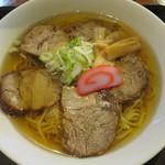美川37カフェ - 料理写真:スミヤ精肉店のチャーシュウ麺 750円