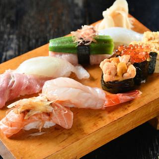 銀座で磨いた腕を久留米で披露!本格江戸前寿司を堪能。