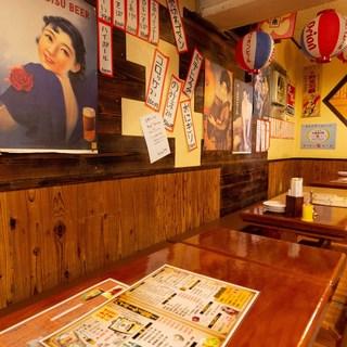 昭和レトロな店内。懐かしさ感じながら、ゆったりとお食事を◎