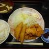 市場食堂 八 - 料理写真:Bの唐揚とハムカツ¥630-
