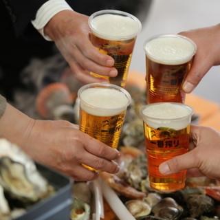 日本の生ビールを中心に多種多様な飲料をご用意