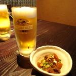 九州居酒屋 克 - 晩酌セットの小鉢と生
