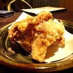 九州居酒屋 克 - 晩酌セットの鶏の竜田揚げ