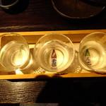 九州居酒屋 克 - 日本酒飲み比べセット
