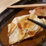 博多かわ屋 - シギ焼きのタレに キャベツon