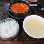 吾照里 - チーズスンドゥブチゲ定食+コムタンスープ2018.08.18