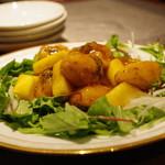 蔓山 - オコゼの揚げもの、フレッシュパイン餡