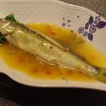 蔓山 - 鮎の蒸しもの、特製新生姜ソース