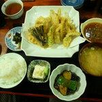 おきよ食堂 - えその天ぷら定食