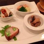 Restaurant μ - 料理写真:前菜4種盛り合わせ