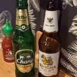 マンゴツリーカフェ - タイのビール2種類飲み比べ♪