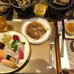 龍宮城スパホテル三日月 - 夕食バイキングとフカヒレなど