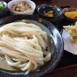 國安うどん - 料理写真:昼定食(ざるうどん)