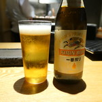 焼鳥 市松 - 瓶ビール750円