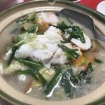 萬華城飯荘 - 鍋のダシを利用しての〆料理