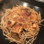 海鮮もんじゃ もすけ - カジキマグロのガーリックステーキ:これはうまい!