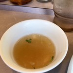 春木屋 - 冷やし中華そばに付くスープ