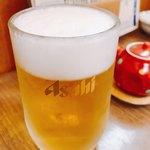 謙徳蕎麦 - 美味しいビール♪( ´▽`)