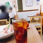 謙徳蕎麦 - ウーロン茶