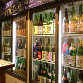 蔵元直送の地酒が常時100種類以上楽しめます