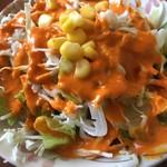 ガンガ - セットのサラダ