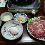 91342586 - 豚すき焼き(ライスつき) 1300円