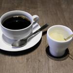 アロッサ - パイナップルのグラニテ、コーヒー