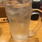 串カツ・どて煮 然 - レモン酎ハイ