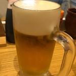 串カツ・どて煮 然 - ビール