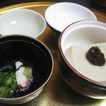 うなぎ割烹 きょう豊 - うざくと胡麻豆腐