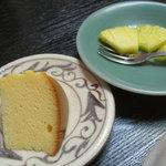 うなぎ割烹 きょう豊 - チーズケーキとパイン