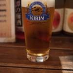 五坪 - 生ビールは一番搾り(500円)
