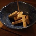五坪 - クリームチーズわさび漬(300円)