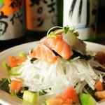 海鮮のサラダ
