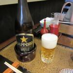 日本橋 伊勢定 - サッポロ瓶ビール(中)660円+Tax