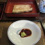 日本橋 伊勢定 - 鰻白焼き半尾 2000円+Tax