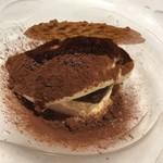 サンタキアラ - 相方 温かいエスプレッソをかけたティラミス サンブーカ風味