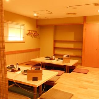 ご宴会にも最適の個室が充実。大人数利用も大歓迎!