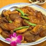 南粤美食 - 蝦子生根豆腐(大豆製品の揚げ物、豆腐、筍、椎茸の乾燥川蝦の卵煮込み)