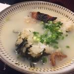 とりまぶし - 最後に鳥スープで食します。