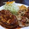 ハンバーグの店 ベア - 料理写真:ハンバーグ&ミニポークソテー
