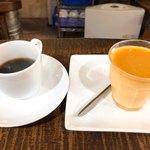 ショー・ラパン - プリンとコーヒーも美味い。参りました。降参!