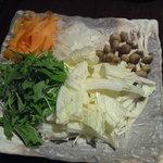 神戸 鉄飯屋 - 豚しゃぶの野菜